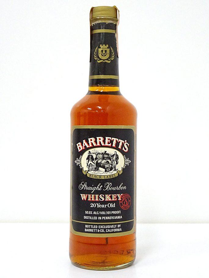 BARRETT'S バレッツ 20年 ブラックラベル バーボン 50.5度 750ml