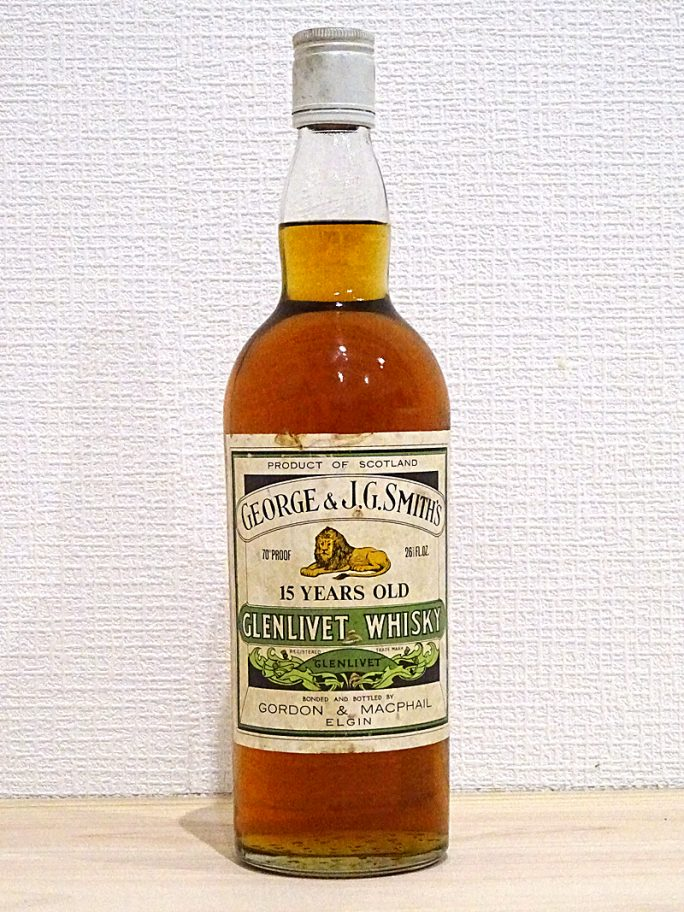 G&M GLENLIVET  スミスズ グレンリベット 15年 オールドボトル 70°PROOF