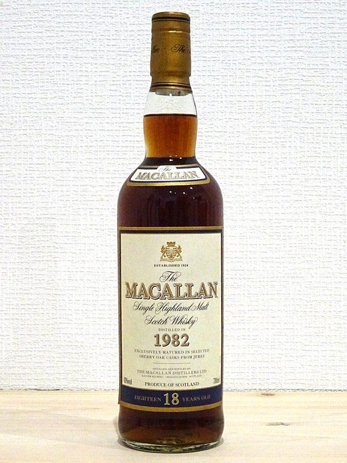 MACALLAN マッカラン 18年 1982年 シェリーカスク 43% 700ml